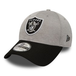 80580969_Casquette NFL Oakland Raiders New Era Jersey Hex 39Thirty Gris
