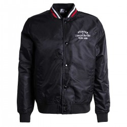 "STJKTBL002_Blouson Starter Jacket Nylon Black "" Look For The Star """