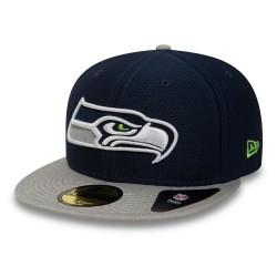 80581151_Casquette NFL Seattle Seahawks New Era Dryera Tech 59Fifty Bleu Marine