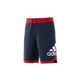 DM6970_Short de basketball adidas logo Bleu marine pour homme