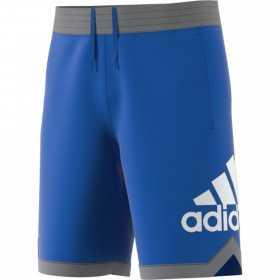 DM6968_Short de basketball adidas logo Bleu pour homme