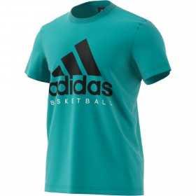 CW9264_T-shirt adidas Basketball Bleu pour homme