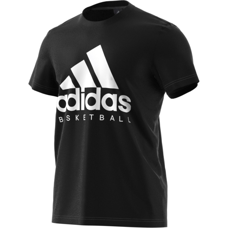 t shirt adidas blanc noir homme