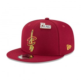11609188_Casquette NBA Cleveland Cavaliers New Era Draft 2018 Snapback 9fifty Rouge