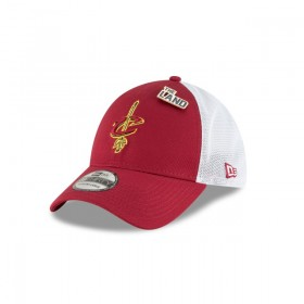 11609415_Casquette NBA Cleveland Cavaliers New Era Draft 2018 Stretch Fit 39Thirty Rouge