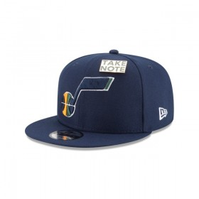 11609114_Casquette NBA Utah Jazz New Era Draft 2018 Snapback 9fifty Bleu