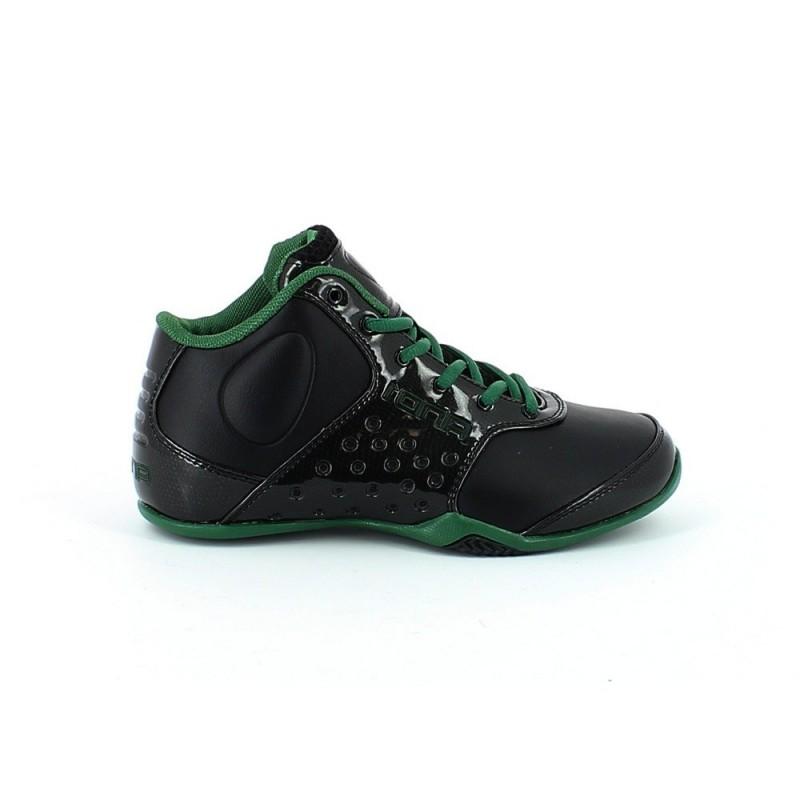 3f067eaedcd6fc Chaussure de Basket And 1 Reign Mid Noir Vert Enfant