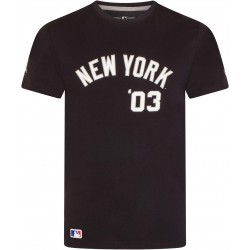 11569542_T-Shirt MLB New York Yankees New Era Script Bleu Marine pour Homme