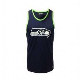 11569577_débardeur NFL Seattle Seahawks New Era Dryera Bleu marine pour Homme