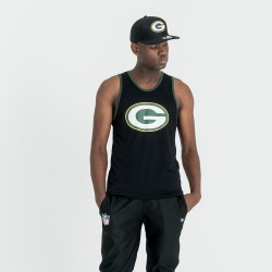 11569580_débardeur NFL Greenbay Packers New Era Dryera Noir pour Homme