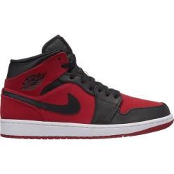 """554724-610_Chaussure de Basket Air Jordan 1 Mid Rouge """"Gym red"""" pour homme"""