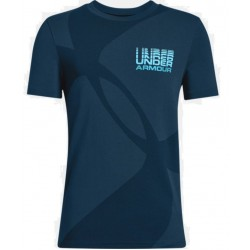 1317595-489_T-shirt pour enfant Under Armour Mega Duo Logo Bleu
