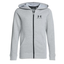 1320133-035_Sweat à capuche Zippé pour Enfant Under armour cotton Fleece Gris