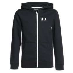 1320133-001_Sweat à capuche Zippé pour Enfant Under armour cotton Fleece Noir