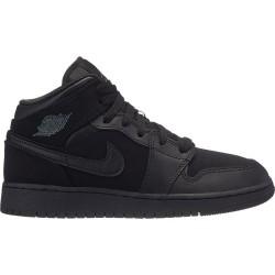 Kids' Air Jordan 1 Mid BG black