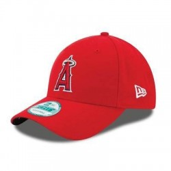 11576727_Casquette de Baseball MLB Los Angeles Angels New Era The League 9Forty Adjustable Rouge