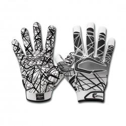 S150-03-10_Gant de football américain Cutters S150 Blanc pour receveur