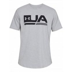 1318562-036_T-shirt Under Armour Sportstyle 2018 Gris pour Homme