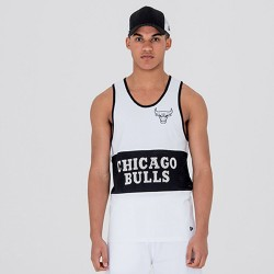 Débardeur NBA Chicago Bulls New Era Mesh Wordmark Pour Hommes