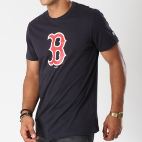 T-Shirt MLB Boston Red Sox Essencial New Era Navy Pour Hommes