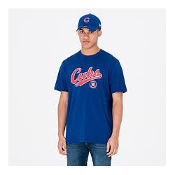 T-Shirt MLB Chicago Cubs Cooperstown New Era Royal Pour Hommes