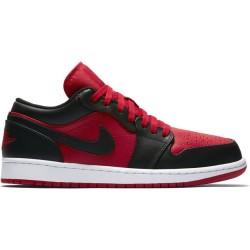 553558-610_Chaussure Air Jordan 1 Low Rouge pour homme