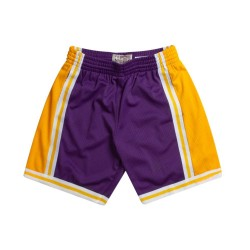 MN-NBA-540B-LALAKE-PUR_Short NBA Los Angeles Lakers 1984-85 Mitchell & Ness Swingman Violet pour Hommes