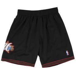 MN-NBA-540B-PHIL76-Blk_Short NBA Philadelphie 76ers 1997-98 Mitchell & Ness Swingman Noir pour Homme