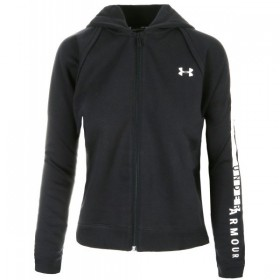 Veste Zippé à Capuche Under Armour Rival Fleece Full Zip Noir pour Femme