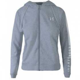 Under Armour Zip Hoody Rival Fleece Full Zip Grey para Mujeres