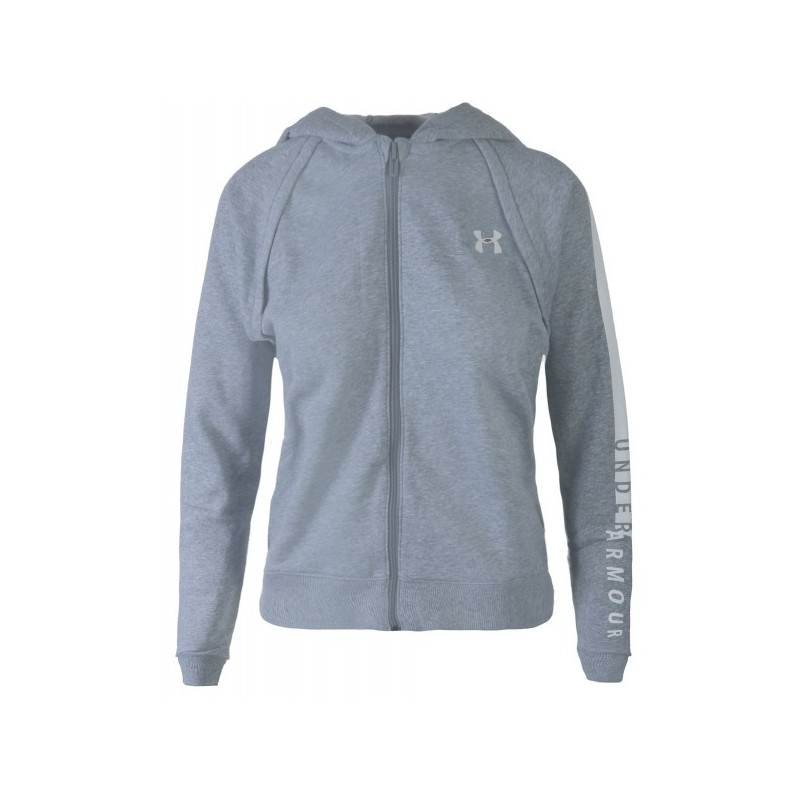 new york d14ff 22dea Veste Zippé à Capuche Under Armour Rival Fleece Full Zip Gris pour Femme