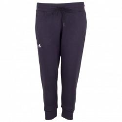Pantalon de Jogging Under Armour Slim Leg Crop Noir pour Femmes