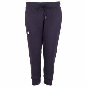 Pantalon de Jogging Under Armour Slim Leg Crop Noir pour Femmes