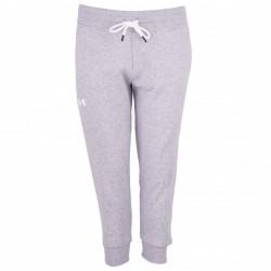 Pantalon de Jogging Under Armour Slim Leg Crop Gris pour Femmes