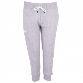 Pantalon de Jogging Under Armour Slim Leg Crop Gris pour Femmes
