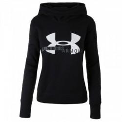 Pull à Capuche Under Armour Cotton Fleece Sportyle Logo Noir pour Femmes