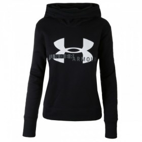 Pull à Capuche Under Armour Cotton Fleece Sportyle Logo Noir pour Femmes