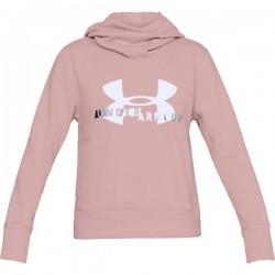 Pull à Capuche Under Armour Cotton Fleece Sportyle Logo Rose pour Femmes
