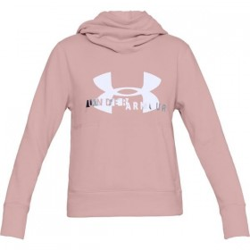 Pull à Capuche Under Armour Cotton Fleece Sportyle Logo Rose pour Femmes