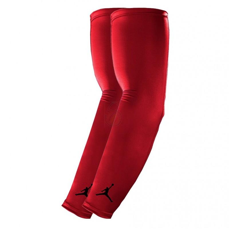 Manchons de compression Jordan Shooter Rouge (La paire)