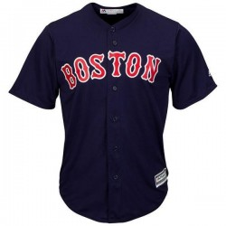 Maillot MLB Boston Red Sox Replica Cool Base Navy Pour Hommes