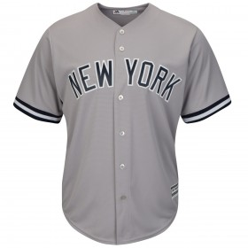 Maillot MLB New-York Yankees Replica Cool Base Gris Pour Hommes