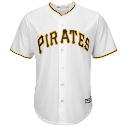 Maillot MLB Pittsburgh Pirates Replica Cool Base Blanc Pour Hommes