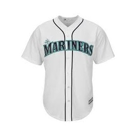 Maillot MLB Seattle Mariners Replica Cool Base Blanc Pour Hommes