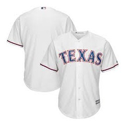 Maillot MLB Texas Rangers Replica Cool Base Blanc Pour Hommes
