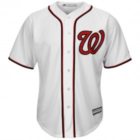 Maillot MLB Washington Nationals Replica Cool Base Blanc Pour Hommes
