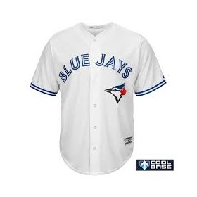 Maillot MLB Toronto Blue Jays Replica Cool Base Blanc Pour Hommes