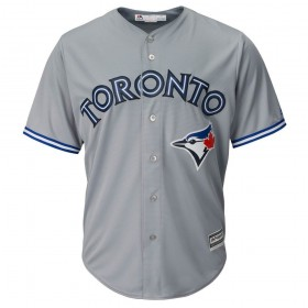 Maillot MLB Toronto Blue Jays Replica Cool Base Gris Pour Hommes