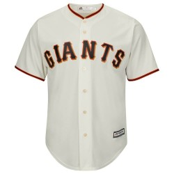Maillot MLB San Francisco Giants Replica Cool Base Ivoir Pour Hommes