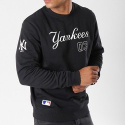11604003_Sweat MLB New York Yankees New Era Team Apparel Script Noir pour homme